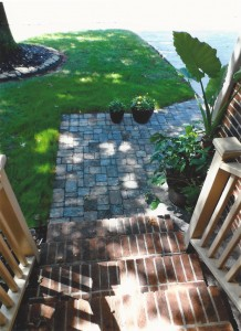 Walk in pavers by A&A Sprinklers