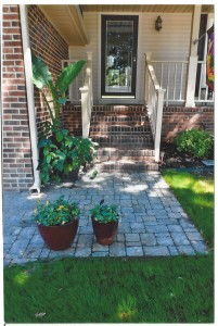 Hardscape front door pavers