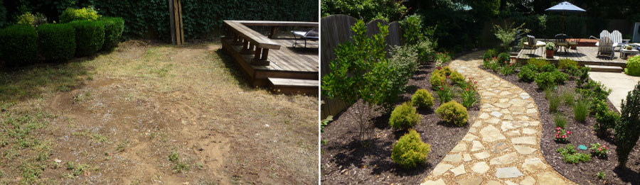 Before and After Our Landscaping Design Services